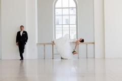 Brautpaarfoto bei Hochzeit
